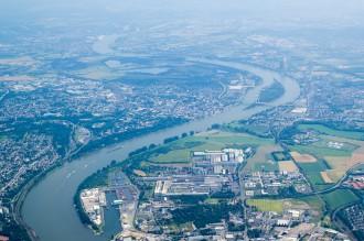Segelflug: Übergang über den Rhein