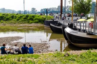 Bergisches Land: Schiffsbrücke Wuppermündung