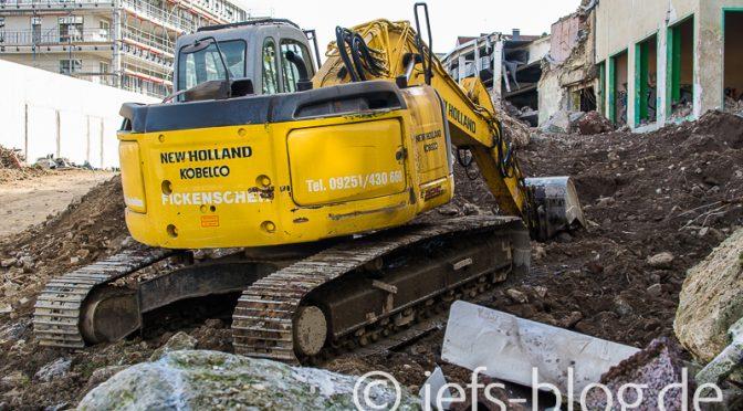 Olbo-Ruinen: Schutt wird abgetragen